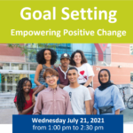 Goal Setting: Empowering Positive Change by YMCA Program Pathways Committee